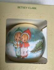 Vintage Adorable Hallmark 1979 Betsey Clark Satin Thread Christmas Ball Ornament