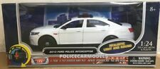 Motormax 1/24 LIGHTS & SIREN Blank White Ford PI Sedan (Taurus) Police Car 79538