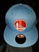 NEW ERA 9 FIFTY NBA GOLDEN STATE WARRIORS SKY SNAPBACK HAT LIGHT BLUE NEW