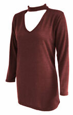 Viscose Patternless Winter Jumpers & Cardigans for Women