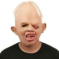 Halloween Mask Scary Evil Latex Horror Full Face Ugly Creepy Goonies Costume 3D