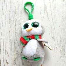 Ty Beanie Boo Keychain Clip Chilly Penguin 2017 Claire's Exclusive Scarf Gray