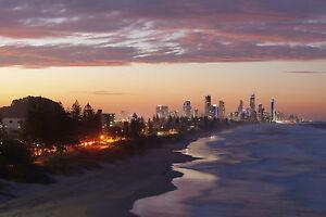 Australia  Gold Coast Surfers Paradise  Photo print licensed canvas poster art