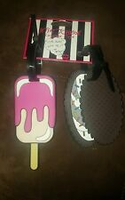 Betsy Johnson adorable ice cream treat luggage tags  NWT (VERY LAST ONE)