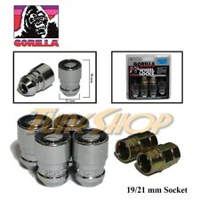 4 GORILLA GUARD LOCK 2 KEY BULGE ACORN WHEEL RIM LUG NUTS 12X1.5 12 1.5 CHROME U