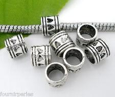 50 Perles FP intercalaires Coeur Ajouré pr Bracelet Charms 7x7mm