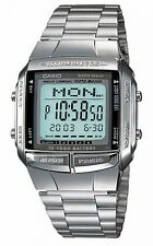 Casio Para Hombre Digital de datos de Bank Watch, Silver, db-360-1adf