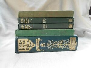 JOB LOT OLD BOOKS PROPS SHELF DISPLAY DECOR SHADES GREEN POETRY FICTION (5)