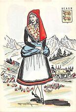 B99233 bearn switzerland costumes woman types ethnics folklore