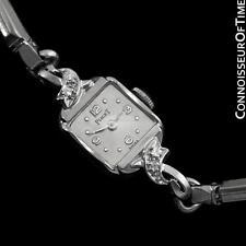 1960's PIAGET Vintage Ladies Handwound Dress Watch - 14K White Gold & Diamonds