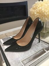 Jimmy Choo Pumps Abel Black High Heel  SZ 35 Or 5 Classic Patent Leather