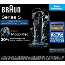 Brand New~!  Braun Series 5 5040S Wet/Dry Shaver-FlexMotionTec With EXTRA HEAD