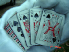 Playing cards belt buckle ten jack queen king of spades.