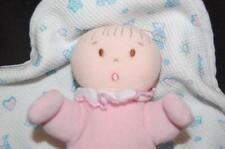 "Eden Pink Blue Baby Rattle Doll 6"" Thermal Teddy Bear Security Blanket Swaddle"