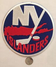 "New York Islanders NHL Logo / Crest Patch 6"" Inch round Iron On / Sew On Patches"
