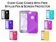 Fundas y carcasas lisos de silicona/goma para teléfonos móviles y PDAs Apple