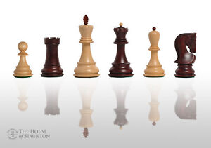 """The Zagreb '59 Chess Set - Pieces Only - 3.875"""" King - Rosewood Stained"""