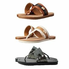 Coach Womens Eileen Casual Slip On Thong Toe Flats Platforms Sandals Shoes