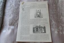 Pittoresco Cottage Garden... c1868 ART JOURNAL ORIGINALE stampa dell'articolo 6 pagine
