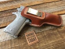 Vintage Alfonsos Brown Leather IWB Holster for Colt 1911 Commander Right
