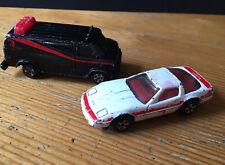 2 x A-Team ERTL Diecast - Van & Car - 1983 Vehicles