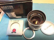 Voigtlander NOKTON 50mm f/1.5 asferico Argento + BW filtro UV + adattatore Leica M