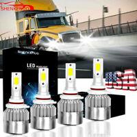 2008-2015 INTERNATIONAL ProStar Truck 50W Headlight LED Bulbs 6500K