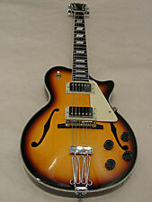 Johnson JH100S Delta Rose Hollowbody Single Cut Electric Guitar Vintage Sunburst