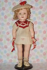 """RARE! Vintage 18"""" Shirley Temple Sailboat Dress All Original Composition Doll"""
