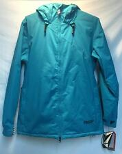 Volcom Women's Yale Insulated Snowboard Winter Jacket Peacock Blue Large NEW