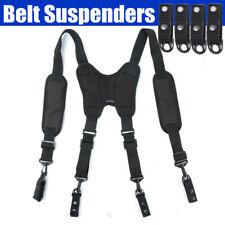 4 Loop Adjustable Tool Belt Suspenders Tactical For Duty Belt Work Braces Kit