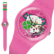 Swatch gent Flowerfull Women's Watch Skeleton Collectible Pink New neu ovp