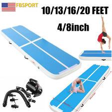 10/13/16/30/40ft Air Mat Track Tumbling Yoga Gym Floor Gymnastics Home W/Pump