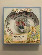 1992 Beatrix Potter Wedgwood Peter Rabbit Merry Christmas Plate Original Box New