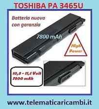 Batteria Potenziata 7800mAh per  Toshiba PA3399U1BRS, PA3399U-1BRS PA3399U
