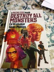 Reckless Destroy All Monsters HC & Signed Bookplate NM Ed Brubaker Sean Phillips