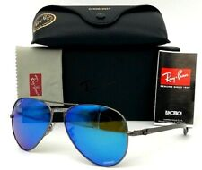 Ray Ban Chromance  RB8317CH  029/A1 Gunmetal / Blue Mirror  58mm Sunglasses