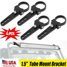 """4pc 1.5"""" 38mm Bull Bar Roll Cage Mount Bracket Tube Clamps LED Light Bar ATV UTV"""