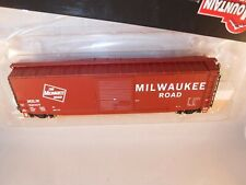 """Intermountain HO Milwaukee Road MILW 50' PS-1 Sgl-Dr Box Tuscan """"Canted"""" #52007"""