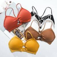 Women's Sexy Seamless Push Up Bra Wireless Padded Bralette Underwear Lingerie .N