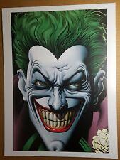 Joker Batman Villain Art Print DC Comics Poster by Brian Bolland