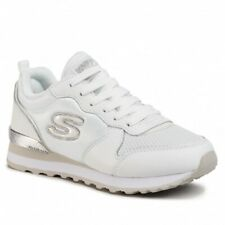 SKECHERS Sneakers Woman OG 85 Goldin Gurl, White/Silver, Air-cooled Memory Foam