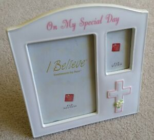 Baptism First Communion Confirmation Photo Frame On My Special Day Russ Believe