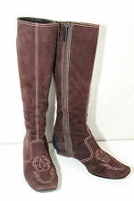 luxurious boots zipped suede dark brown TOD'S size 36 ALMOST NEW