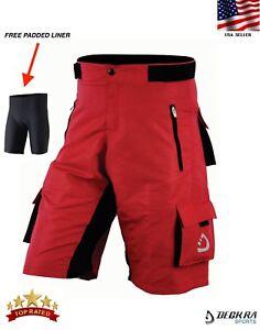 Deckra MTB Cycling Shorts Coolmax Padded Liner Bicycle Mountain Biking Shorts