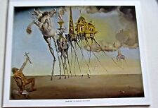 Salvador Dali The Temptation of Saint Anthony Poster 14x11  Offset Lithograph