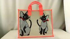"Tommy Hilfiger Cute Cats Appliqué Canvas Totes Bag ""Brand New"""