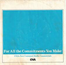 ♫ELI WALLACH CNA Insurance Commercials P/S EP 1983 45RPM♫