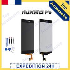 VITRE TACTILE + ECRAN LCD ORIGINAL PRET-A-MONTER POUR HUAWEI P8 NOIR + FILM