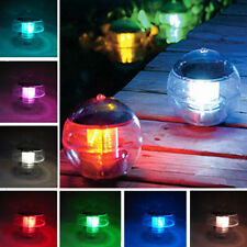 Outdoor Garden Light Pond Pool Ball Lamp Solar Color Changing LED Floating Light